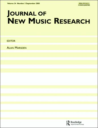 Journal of New Music Research template (Taylor and Francis)