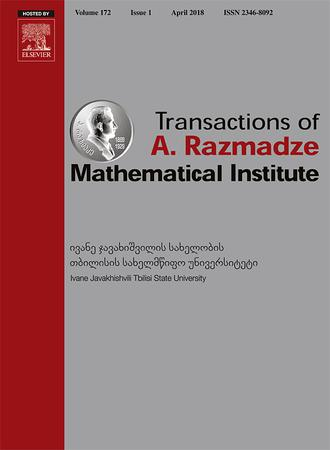 Transactions of A. Razmadze Mathematical Institute template (Elsevier)