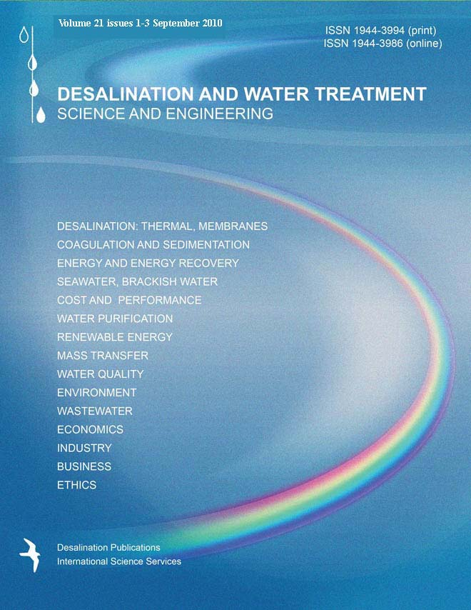 Desalination and Water Treatment template (Taylor and Francis)