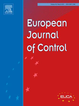 European Journal of Control template (Elsevier)