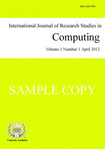 International Journal of Research Studies in Computing (IJRSC) template (Consortia Academia)