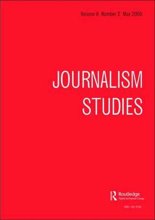 Journalism Studies template (Taylor and Francis)