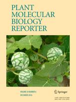 Plant Molecular Biology Reporter template (Springer)