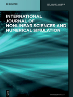 International Journal of Nonlinear Sciences and Numerical Simulation template (De Gruyter)