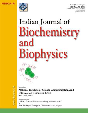 Indian Journal of Biochemistry and Biophysics (IJBB) template (NISCAIR Publications)