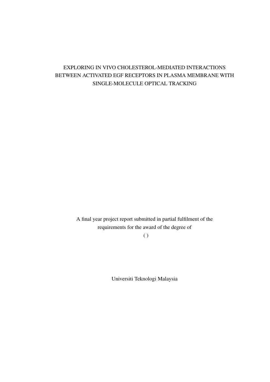universiti teknologi malaysia template for bachelor degree project