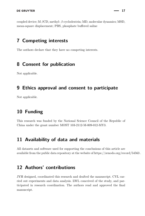 Example of International Journal of Nursing Education Scholarship format