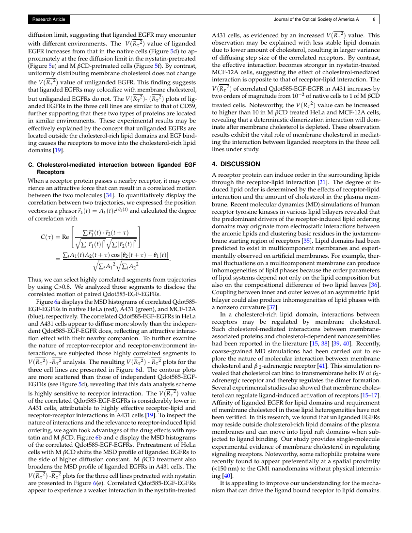 Example of Journal of the Optical Society of America A format