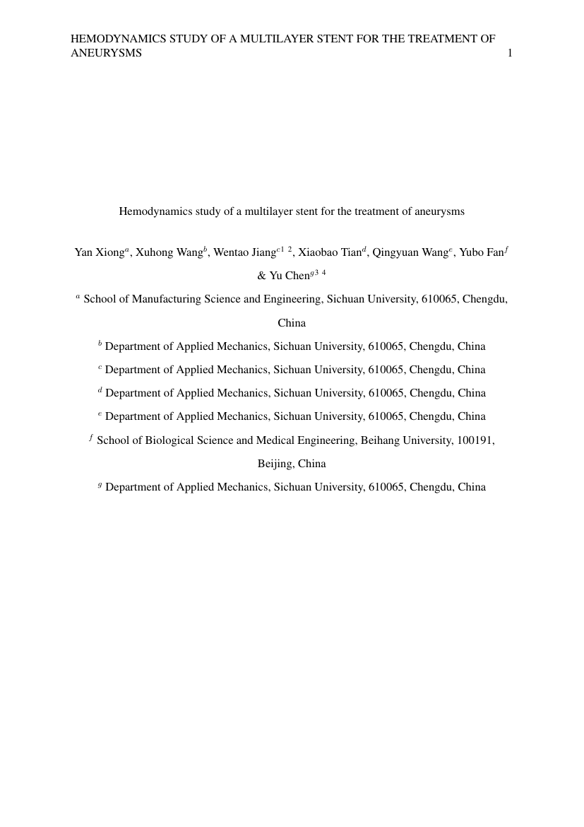 Example of Engineering Undergraduate Cross-Institutional (Assignment/Report) format