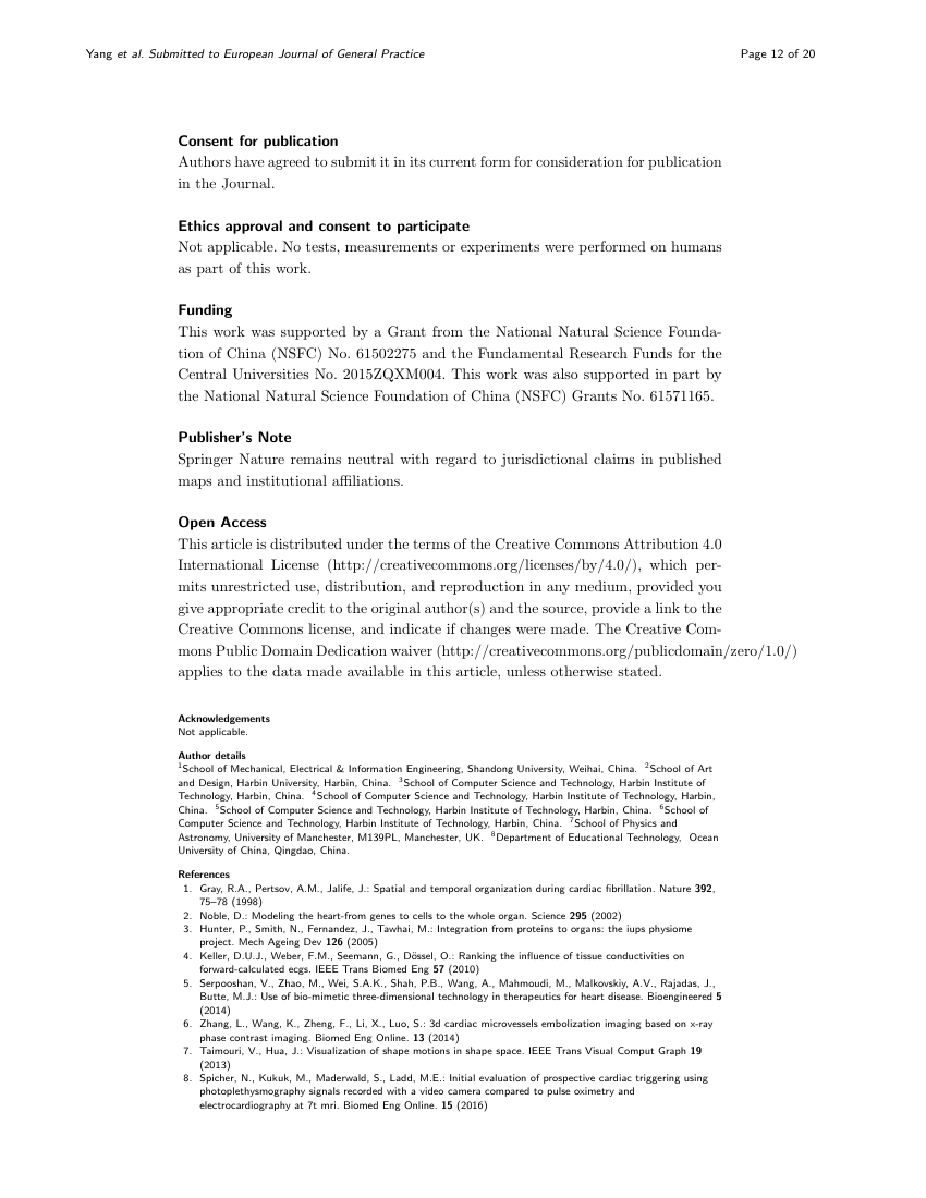 Example of Journal of Environmental Health Science and Engineering - research article format