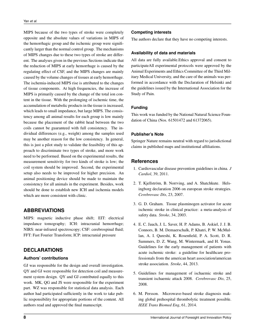 Example of Journal of Medical Investigations and Practice  format