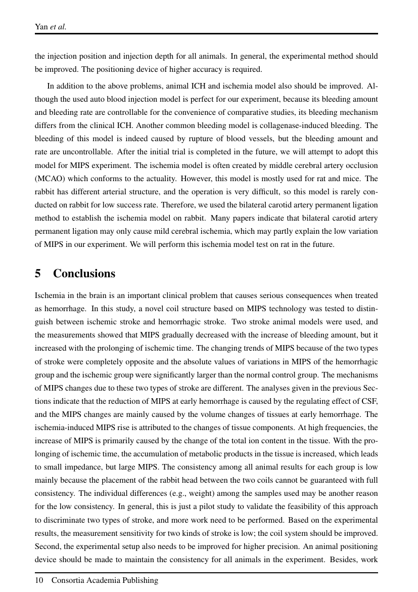 Example of International Journal of Research Studies in Psychology (IJRSP) format