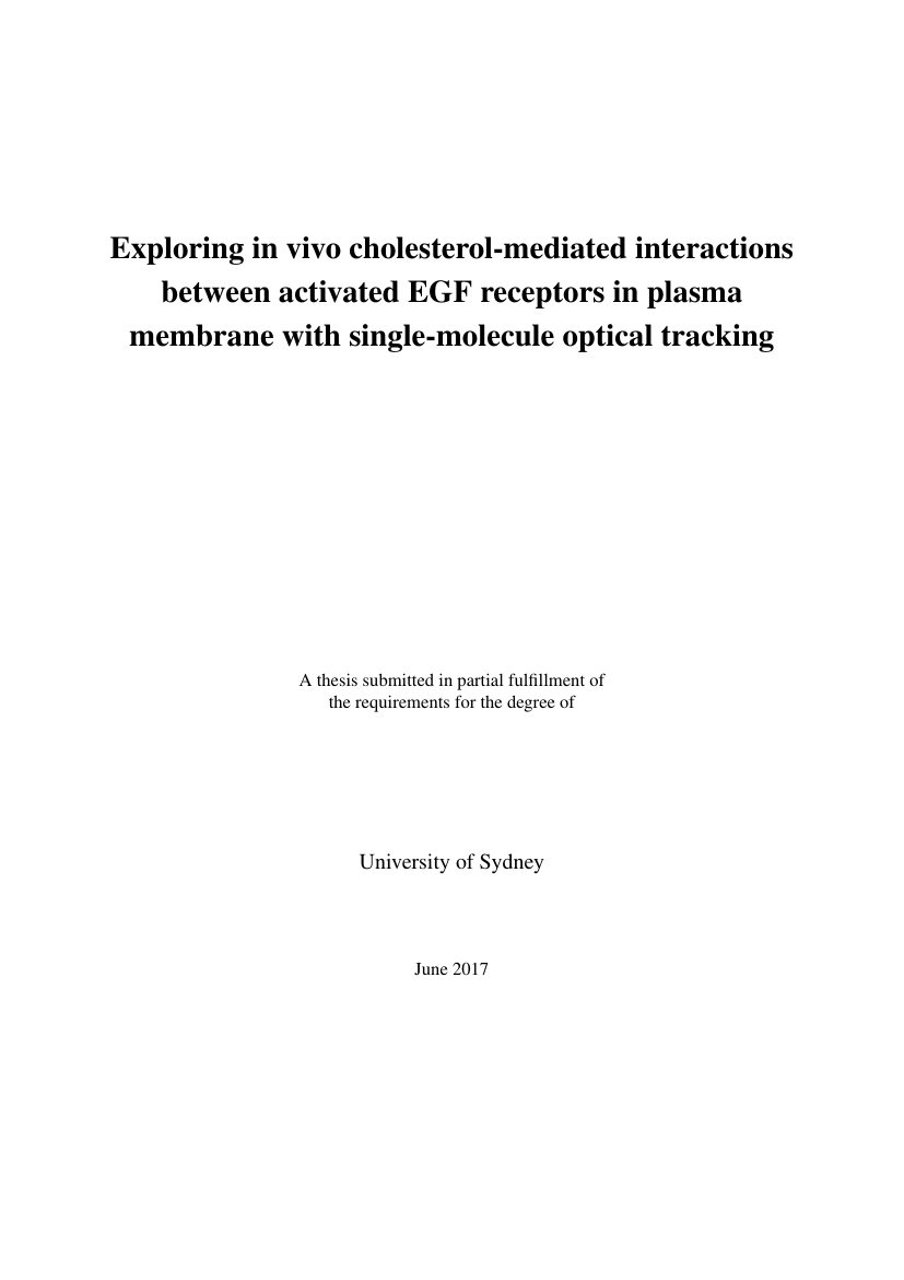 Example of Thesis Template for University of Sydney format