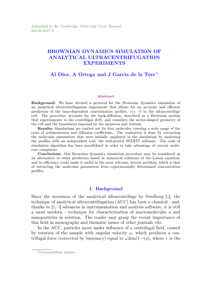 Example of Annals of Actuarial Science format