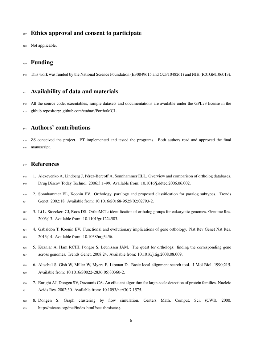 Example of Emergency Care Journal format