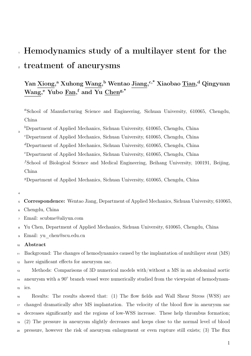 Example of World Journal of Oncology format