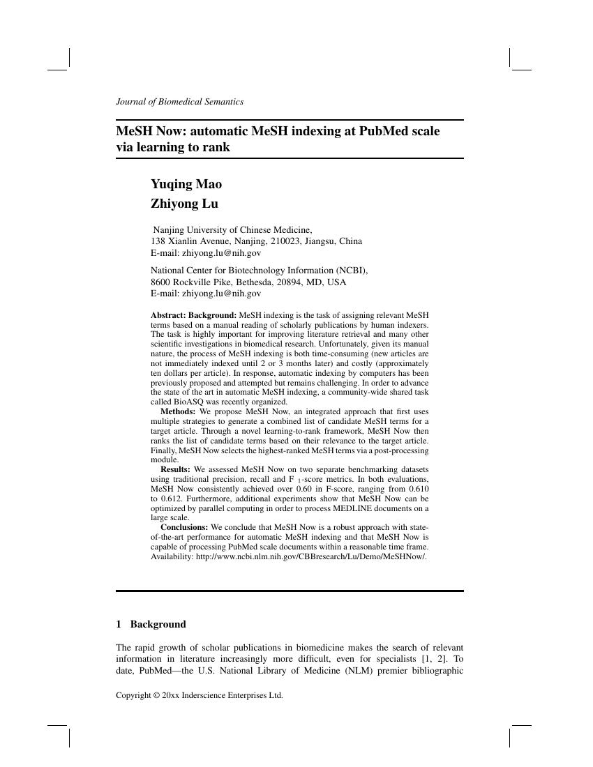 Inderscience Publishers International Journal Of Information