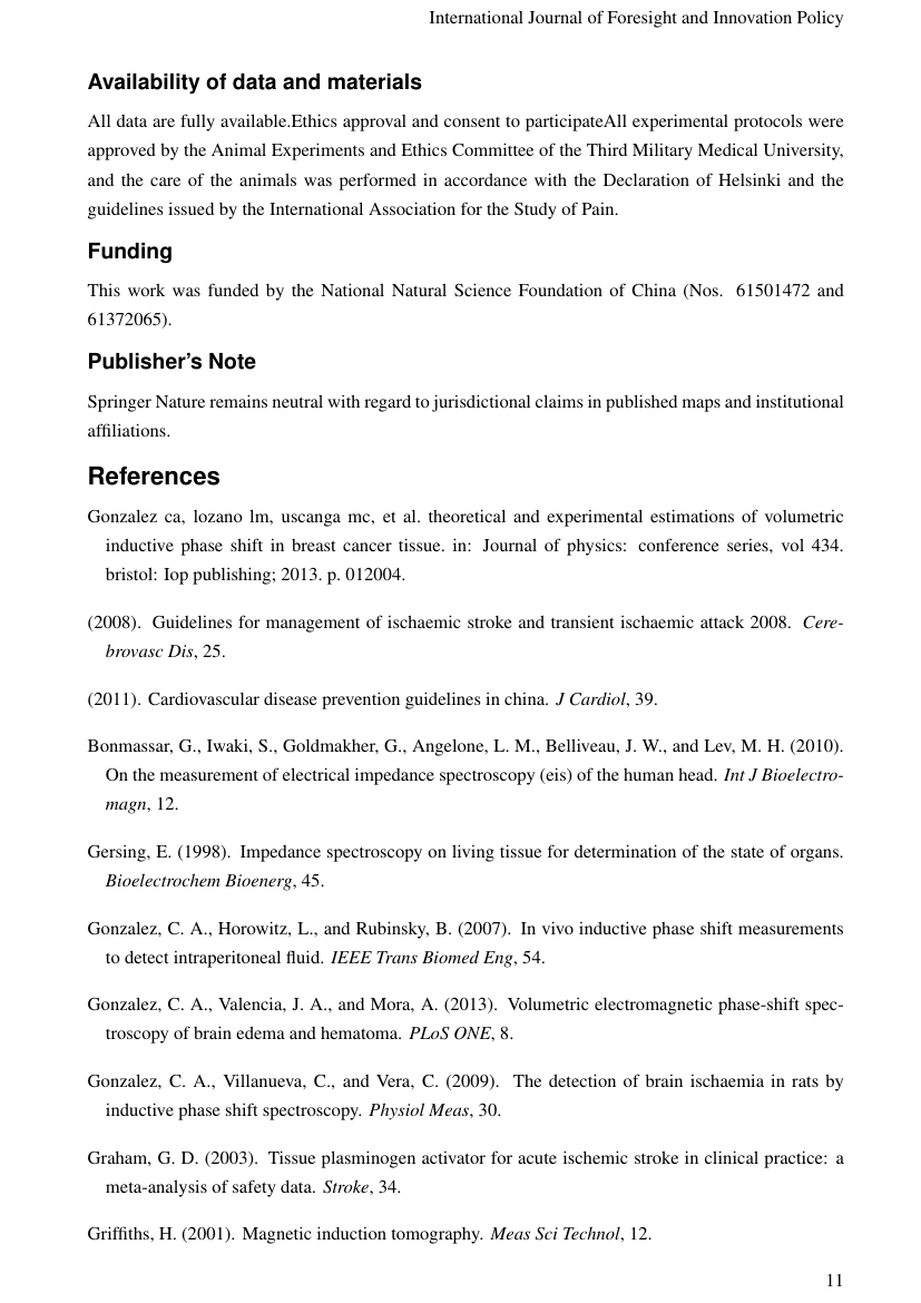 Example of International Journal of Disaster Response and Emergency Management (IJDREM) format