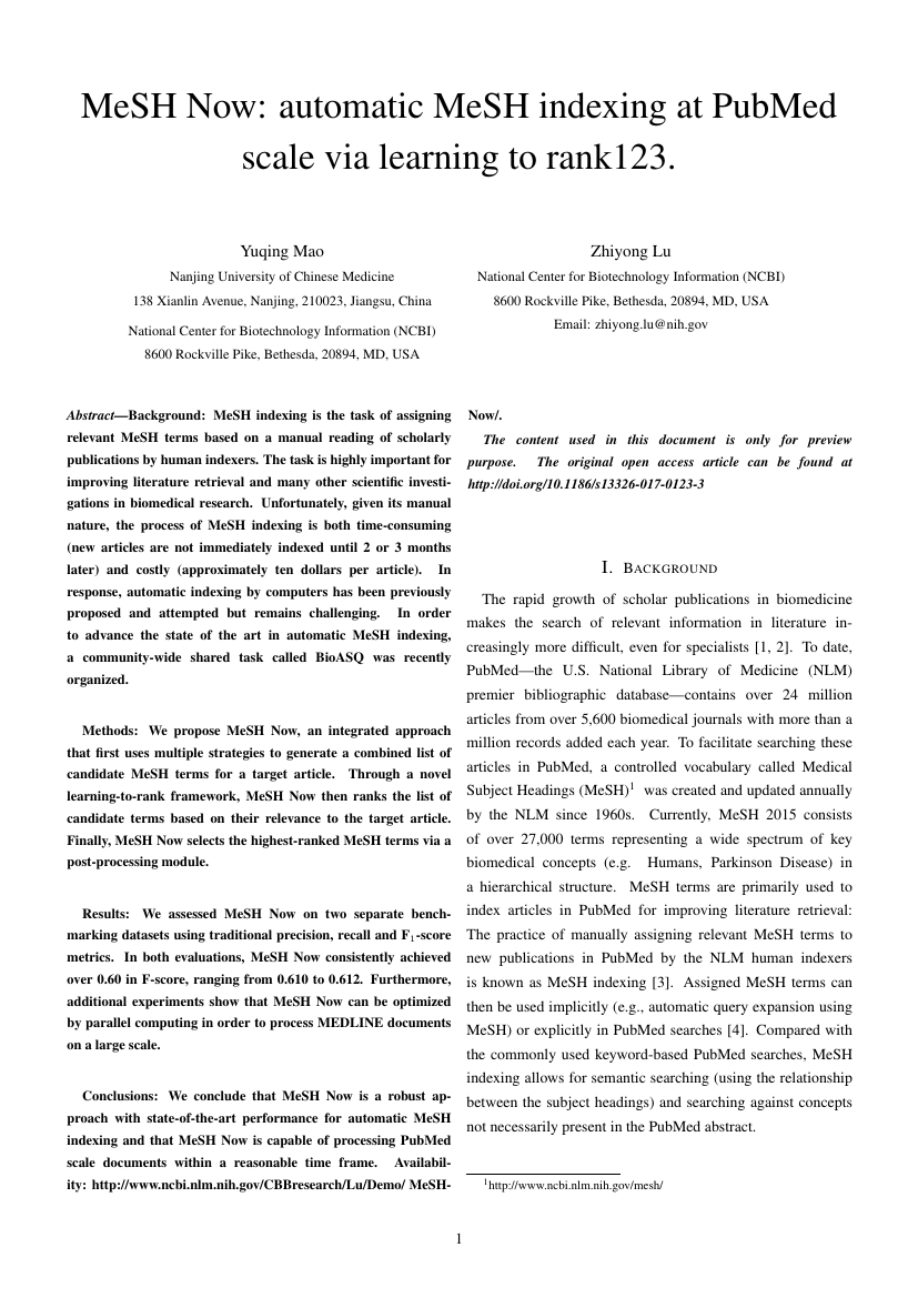 Example of International Journal of Data Warehousing format