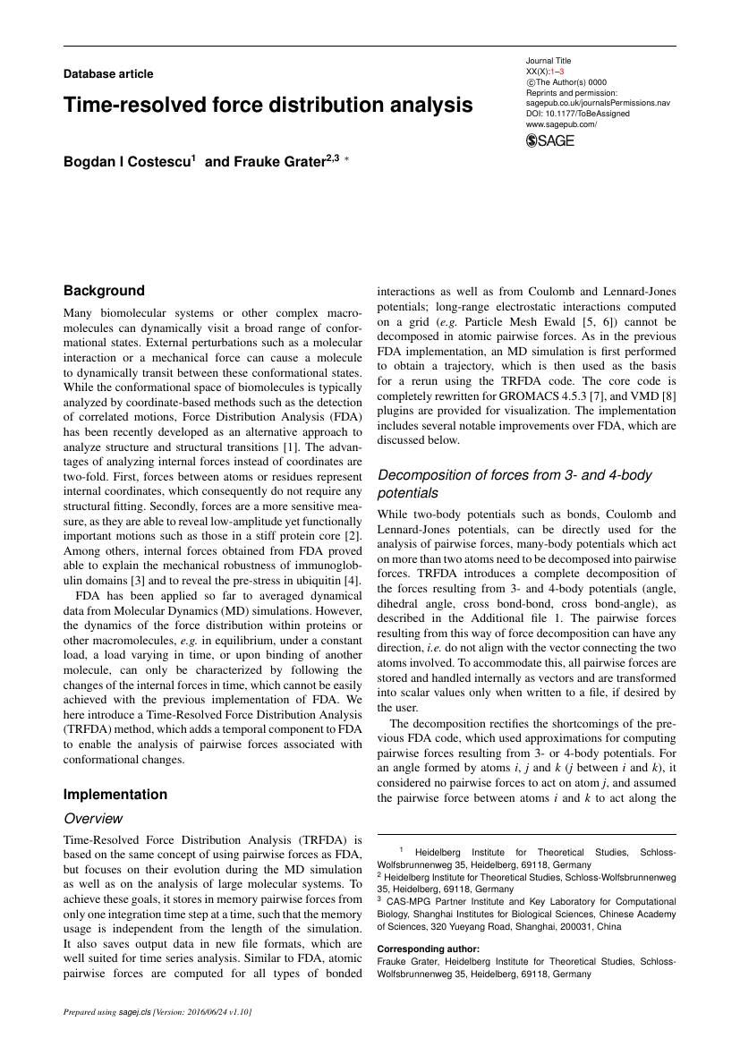 Example of Journal of Human Values format