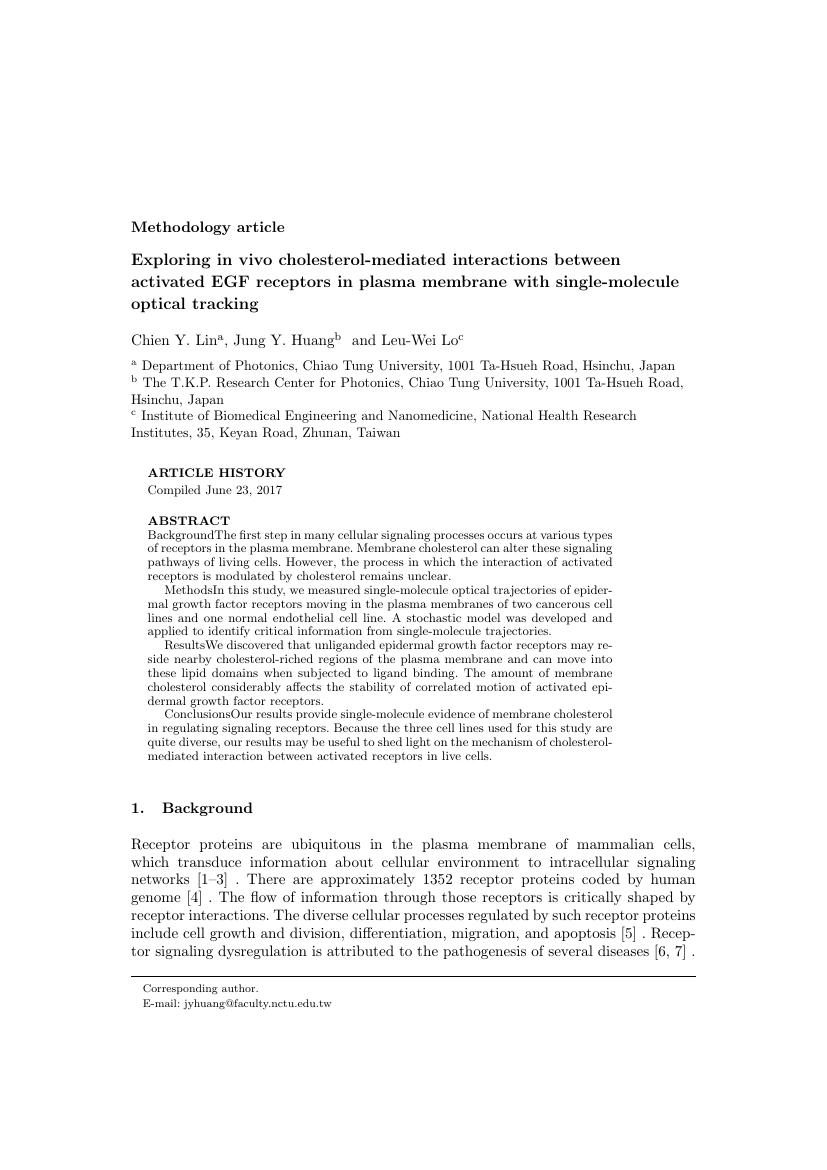 Example of Journal of Spatial Science format