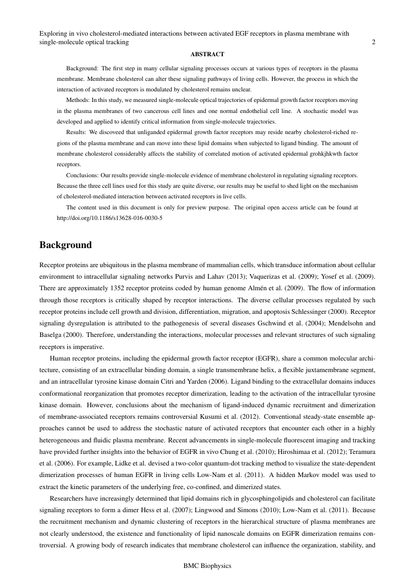 Example of Brazilian Journal of Chemical Engineering format
