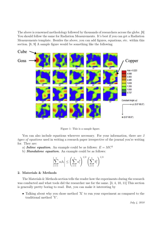 Elsevier Radiation Measurements Template